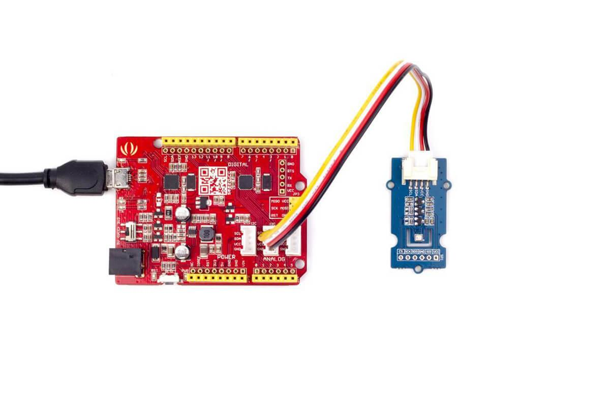 Three-in-one Environmental Sensor Supports Both I2C and SPI Accuracy /±1.0 hPa for Pressure,/±1 for Temperature and /±3/% for Humidity Seeed Studio Grove BME280 Temp/&Humi/&Barometer Sensor
