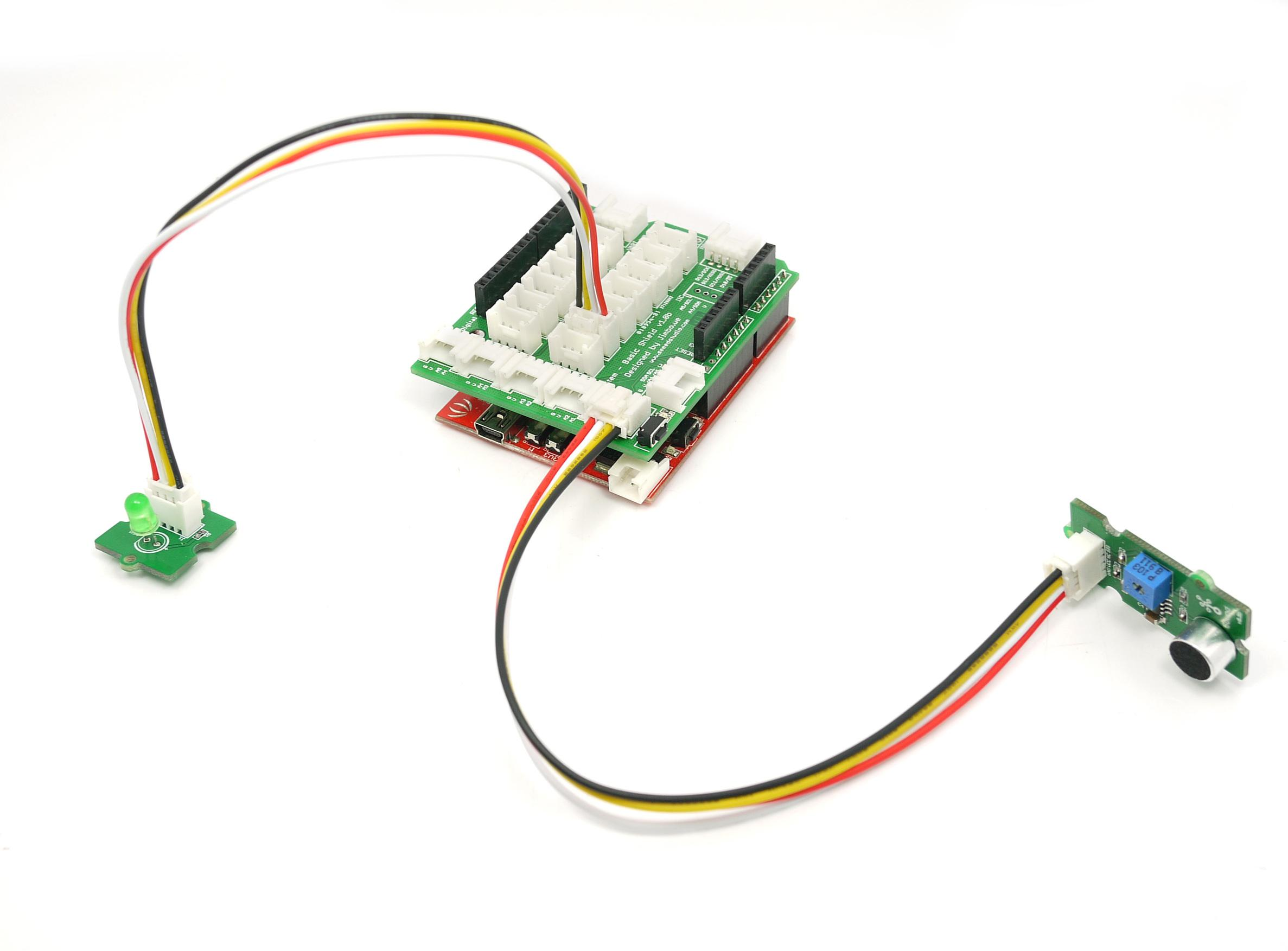 Grove Sound Sensor Electret Microphone Circuit As Well Arduino With