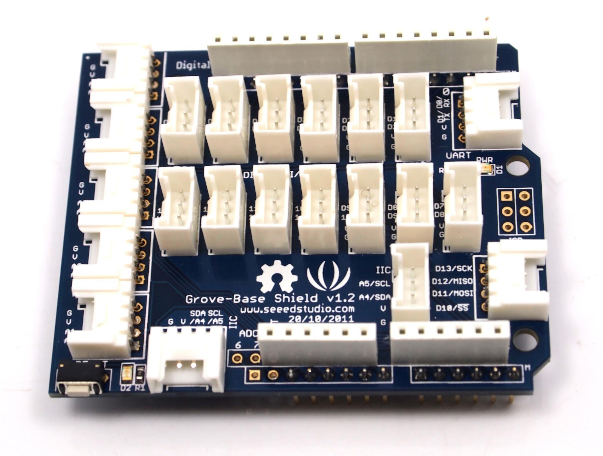 Grove Starter Kit V10b Drawing Circuit Diagram License Lgpl Electronic Projects Circuits The Purpose Of Base Shield Is To Allow Easy Connection Any Microprocessor Input And Output Pins Small Units